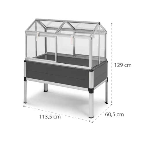 praktický typ vyvýšeného skleníku