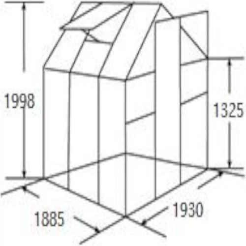 zahradní polykarbonátový skleník s ventilací