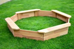 Dětské pískoviště ve tvaru osmihranu