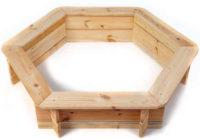 Šestihranné dřevěné dětské pískoviště