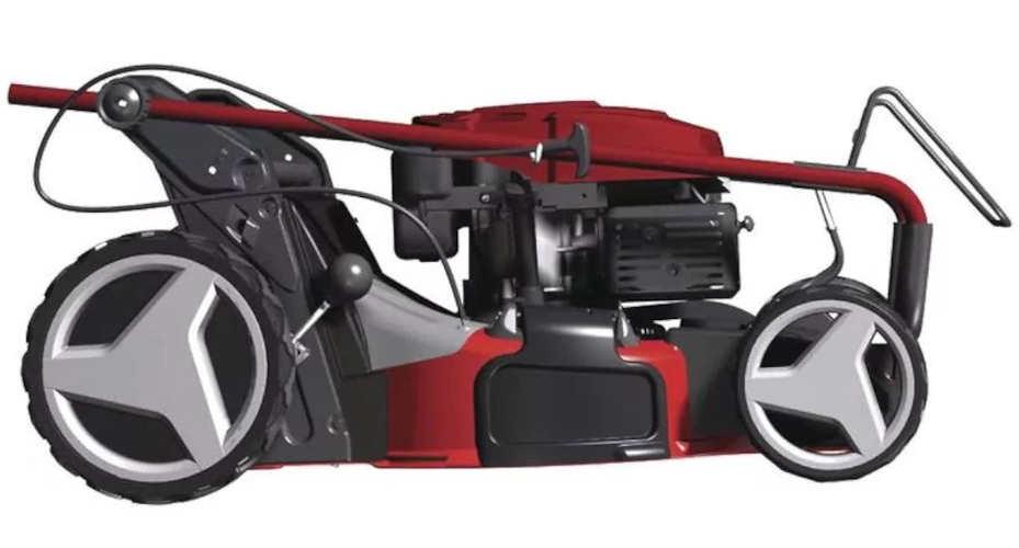 Benzinová sekačka s pohonem zadních kol s převodovkou