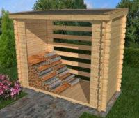 Dřevěný přístřešek na palivové dříví Woodshed 224x144 cm