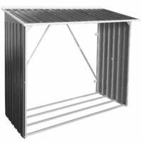 Kovový domek na krbové dřevo 1700x620x1400-1640
