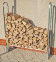 Kovový stojan na dřevo WOODO 119x25x144 cm