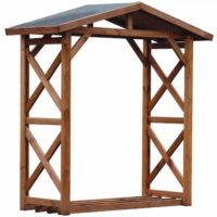 Přístřešek na dřevo se sedlovou střechou