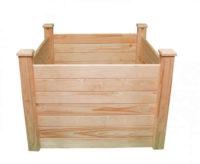 Dřevěný vyvýšený záhon o výšce 77 cm