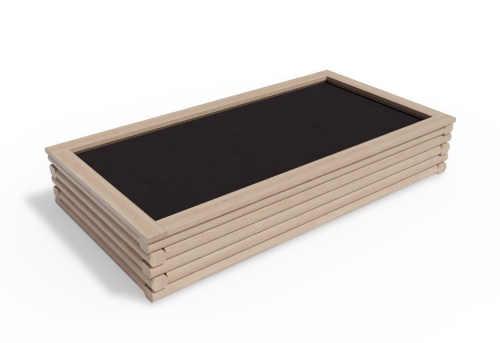 designový dřevěný vyvýšený záhon