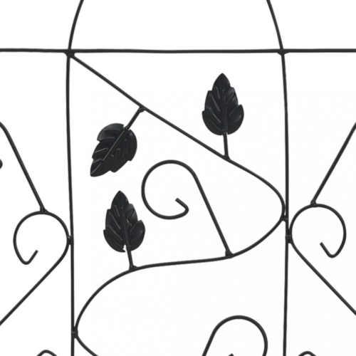 kovové černé opěry na květiny