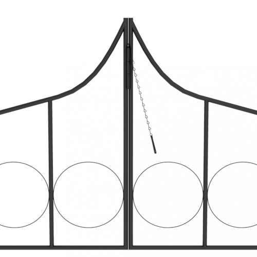 oblouk pro popínavky z černého kovu