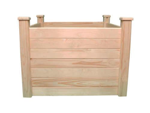 vyvýšený dřevěný zahradní záhon Lanitplast