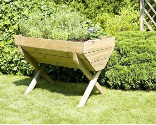 zahradní dřevěný vyvýšený záhon