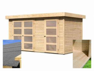 Dřevěný domek se dvěma místnostmi