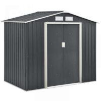 Kovový zahradní domek na nářadí 213x127x185 cm