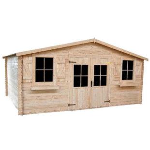 Prostorný dřevěný zahradní domek