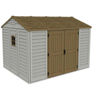Prostorný plastový domek s podlahovou konstrukcí