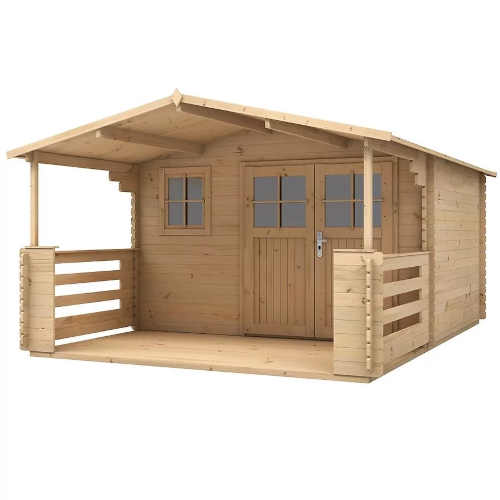 Zahradní dřevěný domek s terasou