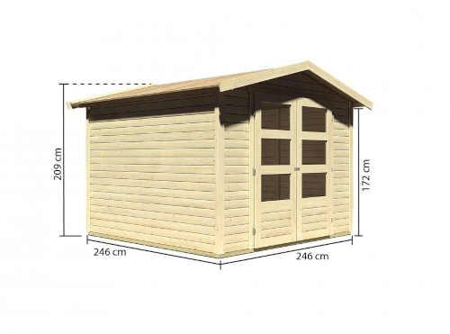 domek ze dřeva na nářadí