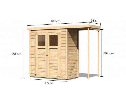 dřevěný domek Karibu Devin