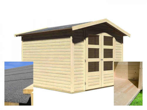 praktický venkovní domek s podlahou