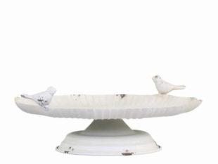 Krmítko-pítko pro ptáky ve vintage stylu