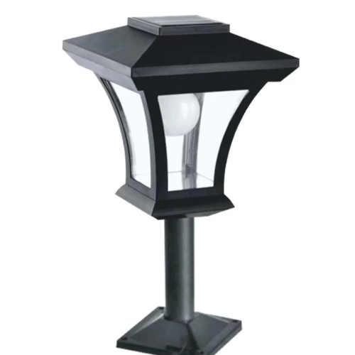 černá solární led lampa Baumax