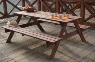 Dřevěný zahradní pivní set PIKNIK 200 cm