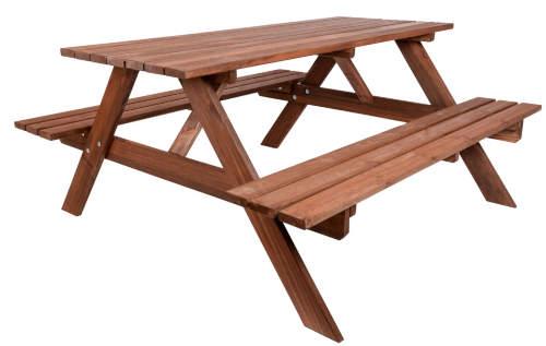 Piknikový zahradní set se dvěma lavicemi