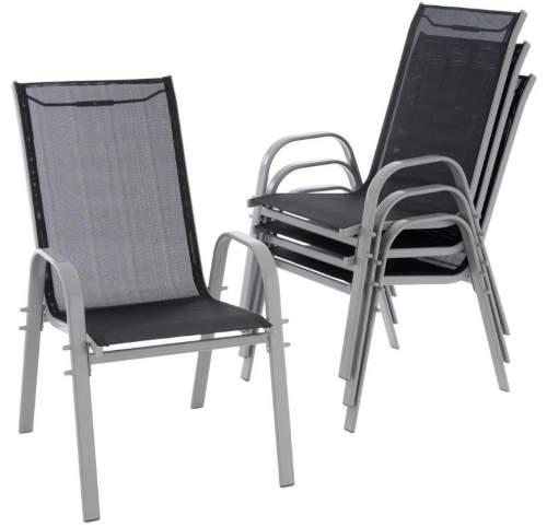 Sada čtyř kusů židlí na terasu s vysokým opěradlem