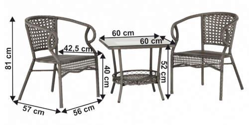 Set zahradního nábytku dvě židle a stolek