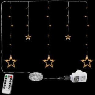 LED vánoční závěs tvořený hvězdami
