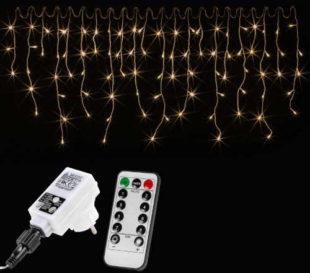 Vánoční světelný déšť s dálkovým ovladačem