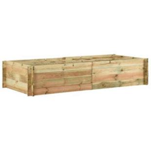Vyvýšený záhon z borovicového dřeva